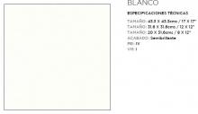 SAMBORO ALASKA BLANCO 31.6X31.6