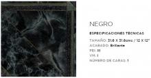 SAMBORO LUGANO NEGRO 31.6X31.6