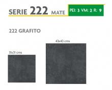 BRASILIA 222 GRAFITO 31X31 Y 43X43