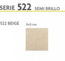 BRASILIA 522 BEIGE SEMI BRILLO 31X31