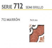 BRASILIA 712 MARRON 31X31 SEMI  BRILLO