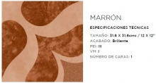 SAMBORO MASAYA MARRON 31.6X31.6