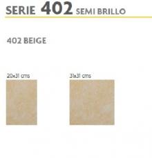 BRASILIA 402 BEIGE 31X31 SEMI BRILLO