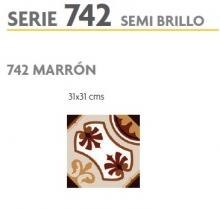 BRASILIA 742 MARRON 31X31 SEMI BRILLOSO