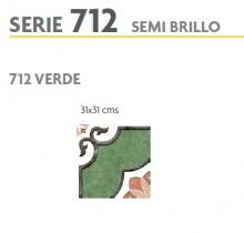 BRASILIA 712 VERDE 31X31 SEMI BRILLOSO