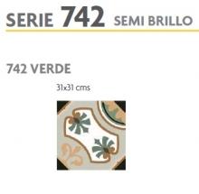 BRASILIA 742 VERDE 31X31 SEMI BRILLOSO